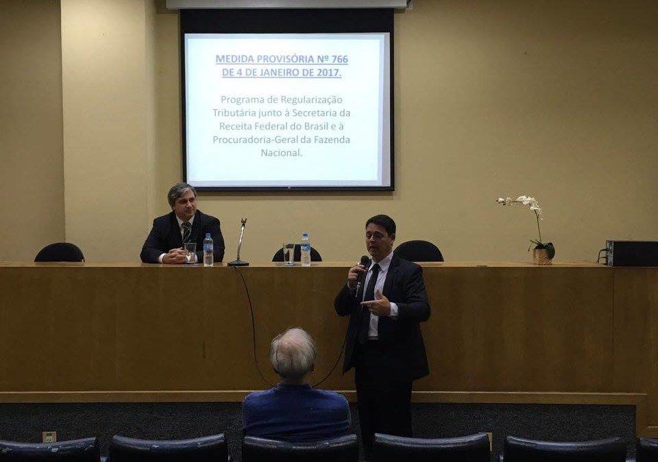 Palestra sobre MP 766 – Programa de Regularização Tributária